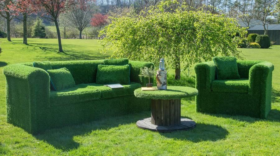Quirky Garden Furniture Made From Artificial Grass Turf Fresh Design Blog